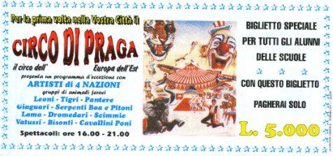 14/11/1999: NOVITA' AL CIRCO DI PRAGA (Fam. Cristiani)