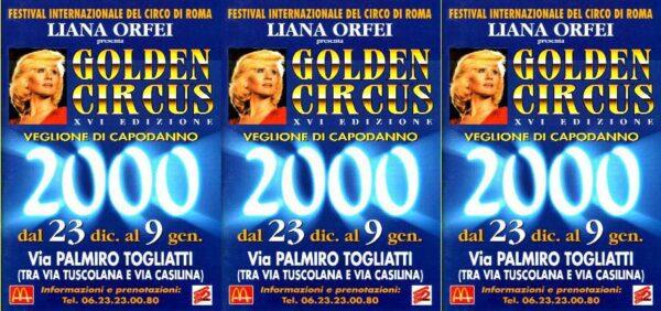 7/1/2000: 16° GOLDEN CIRCUS (Liana Orfei): Programma
