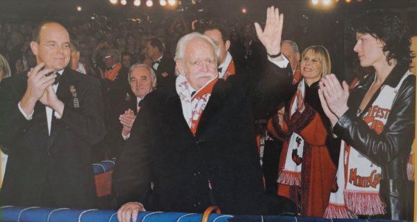 Ranieri partecipa all'inaugurazione del 29° Festival di Montecarlo