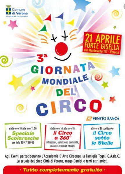 21 aprile al Forte Gisella giornata dedicata al circo