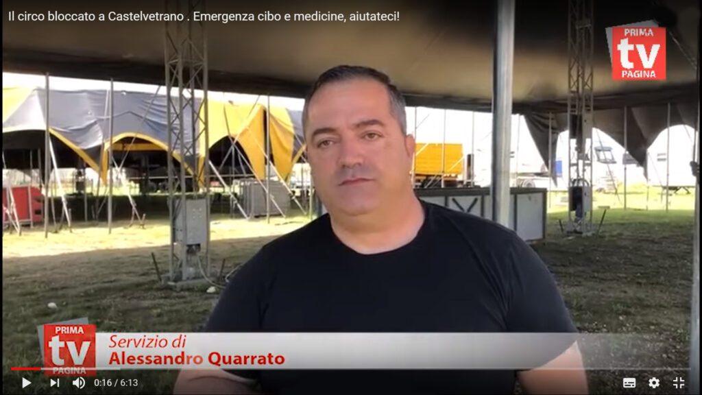 HAPPY CIRCUS – DONNA ORFEI: Il circo bloccato a Castelvetrano. Emergenza cibo e medicine, aiutateci!