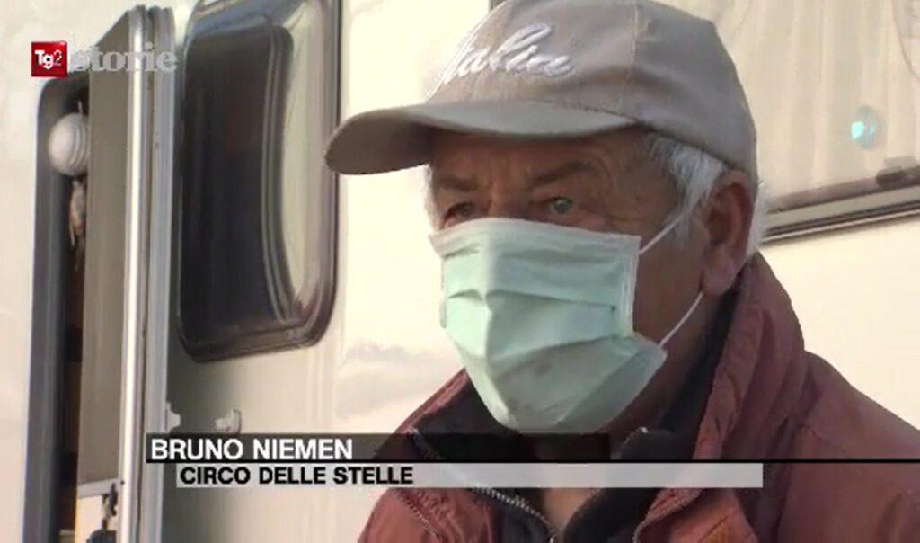 """Circo delle Stelle. Bruno Niemen al Tg2 """"Storie"""""""