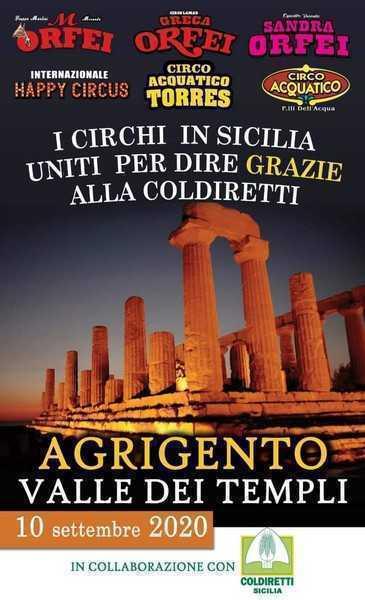 I circhi in Sicilia ringraziano la Coldiretti