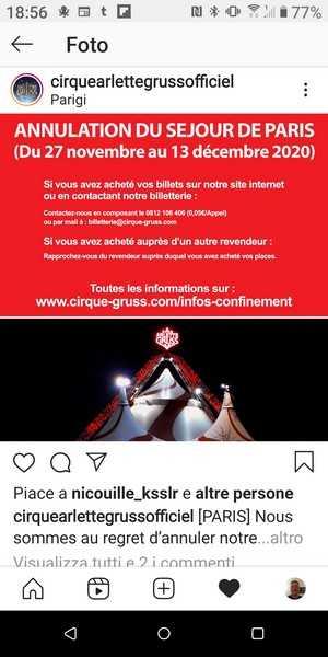 Arlette Gruss annulla Parigi
