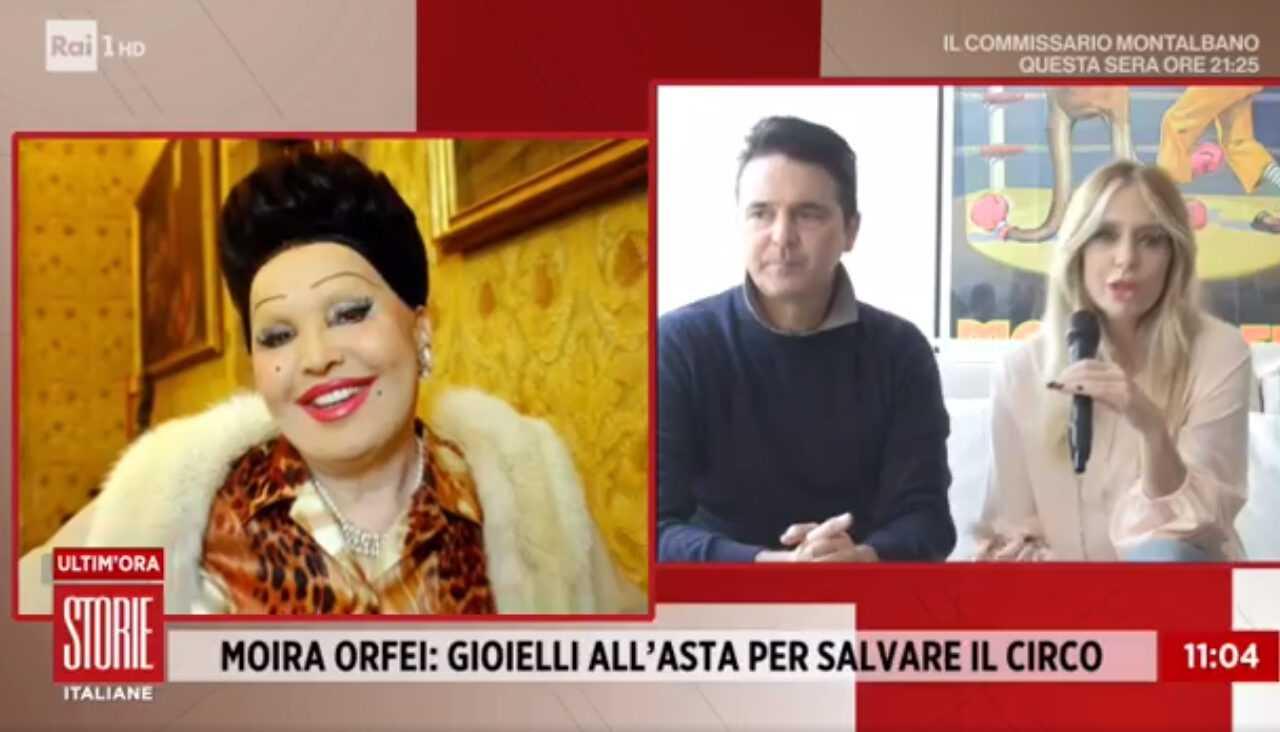 Brigitta Boccoli a Storie Italiane: «Ecco perché io e Stefano abbiamo venduto i gioielli di Moira Orfei»: Il Video