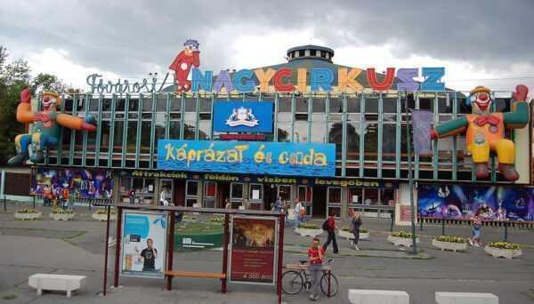 L'esterno del circo stabile di Budapest