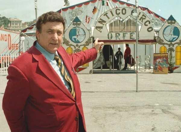 Nando Orfei nel 'circo' di Federico Fellini