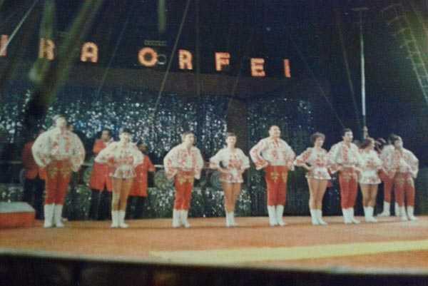 La troupe Cretzu al Circo Moira Orfei 1979