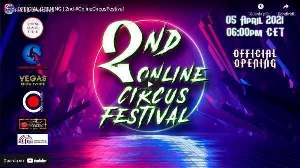APERTURA 2° ONLINE CIRCUS FESTIVAL