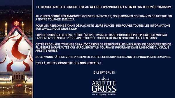 ARLETTE GRUSS TOURNEE CONCLUSA
