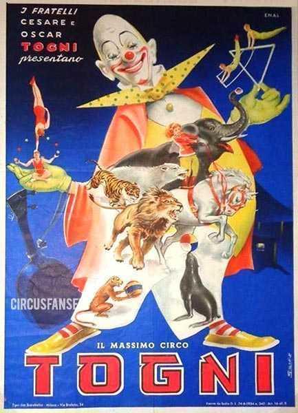 circo cesare e oscar togni 1960