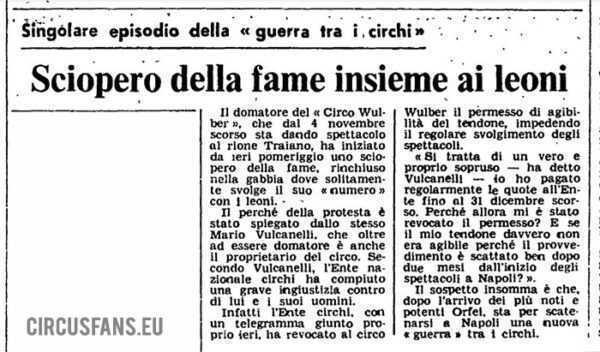 la guerra dei circhi la protesta di mario vulcanelli a napoli 1979