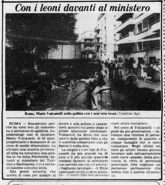 mario vulcanelli protesta a roma davanti al ministero luglio 1979