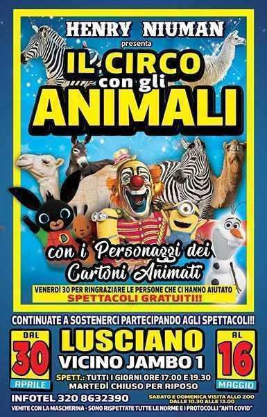 riapre un altro circo il circo henry niuman