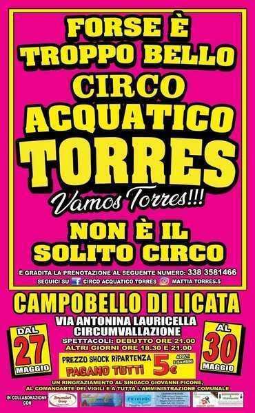circo Torres nuovo manifesto