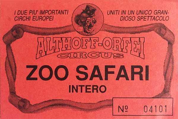 circo althoff orfei 1996 cagliari