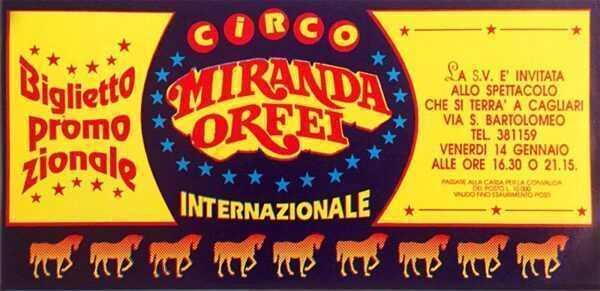 circo miranda orfei cagliari 1993-1994