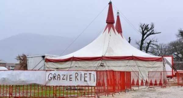 Circo Orfei sotto 'sfratto' e bloccato a Rieti.