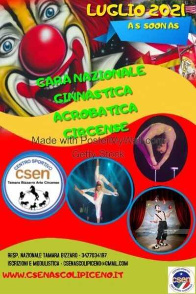 gara di ginnastica acrobatica circense