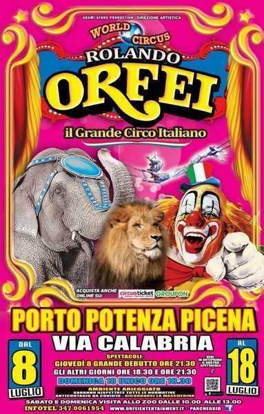 CIRCO ROLANDO ORFEI: PROGRAMMA