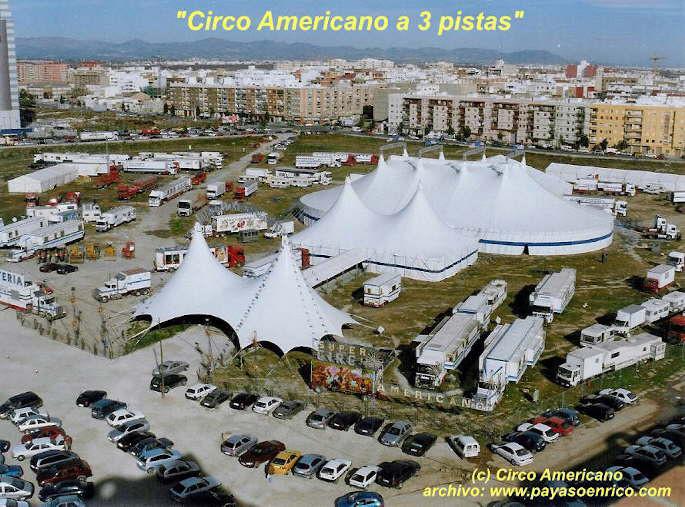 Esterno del Circo Americano (Faggioni) a Valencia 2004/2005