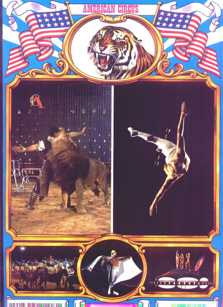 Elvin Bale sul programma del Circo Americano 1985