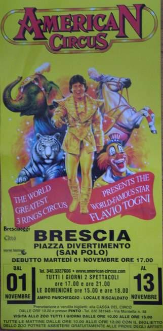 Locandina American Circus a Brescia