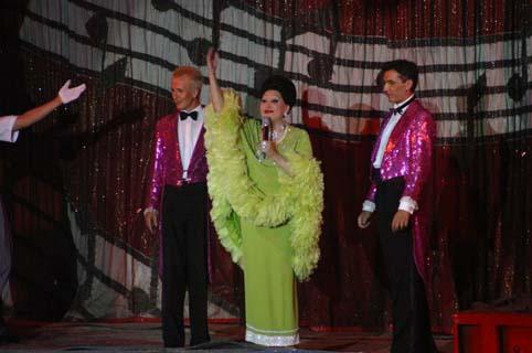 Moira Orfei con Gerd Koch e Giorgio Vidali