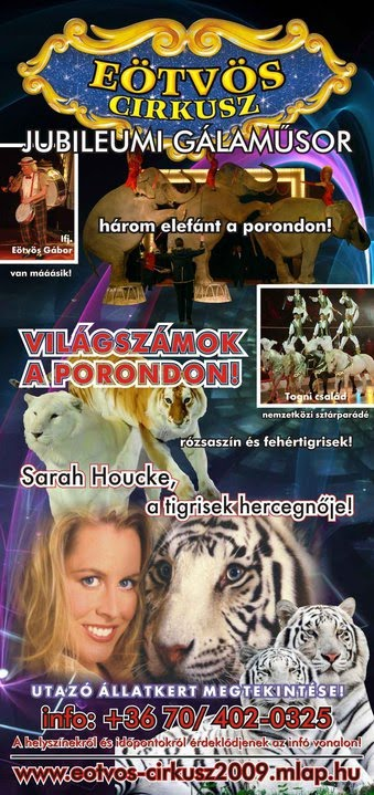 SARAH HOUCKE AL CIRKUSZ EOTVOS con gli animali dei Togni