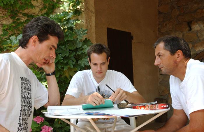 Gilbert Gruss con Germain Bourque e Julien