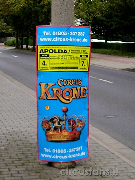 GERMANIA: SALUTI DAL CIRCO KRONE