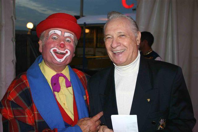 Il clown Lubino e Roland Sollath (Mr. Goooo) al Circo Louis Knie Jr