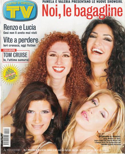 "Zaira sulla copertina di ""TV Sorrisi e Canzoni"""